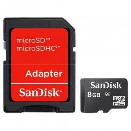 Cartão De Memoria Micro Sd 8gb + Adaptador Sandisk