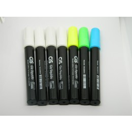 Giz Líquido Para Quadro Negro 4 Cores Sortidas CIS Pacote C/ 7 Unidades