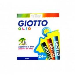 Giz Pastel Oleoso Estojo com 24 cores Giotto