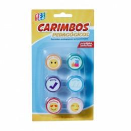 Carimbos Pedagógicos Autoentintados kit c/06