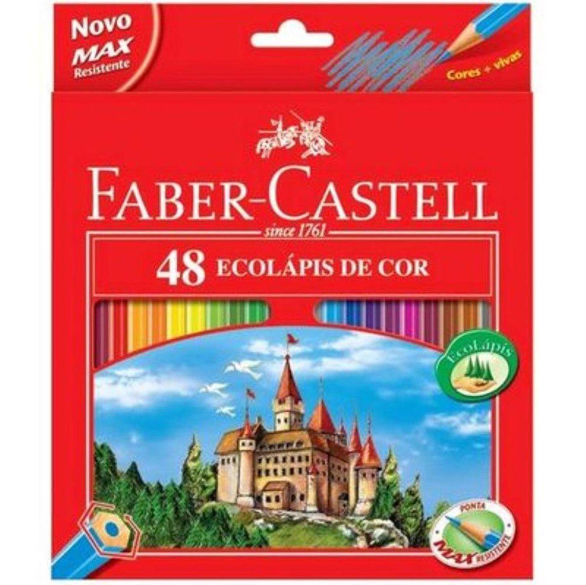 Lapis de Cor 48 cores Ecolapis - Faber-Castell