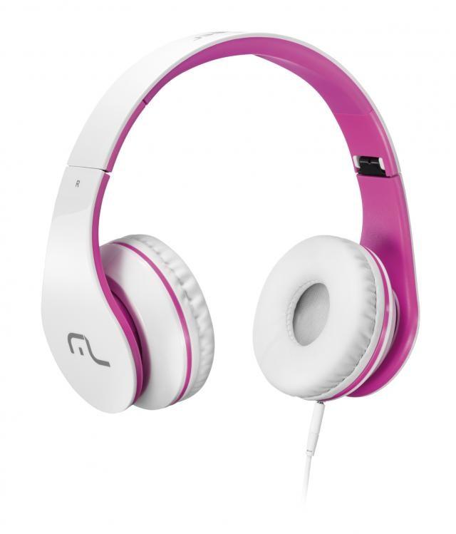 Fone De Ouvido Multilaser C/ Microfone Para Celular Branco E Rosa - Ph114