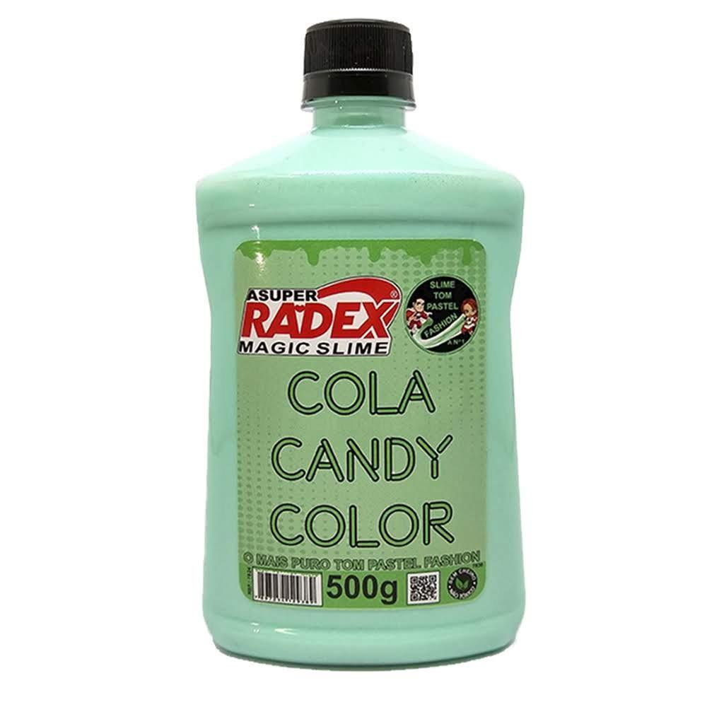 Cola Radex para Silme 500g Candy Color Verde
