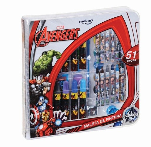 Maleta de Pintura Avengers 51 peças