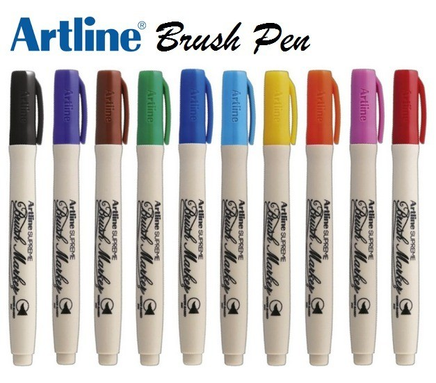 Caneta Brush Marker Artline Supreme c/10