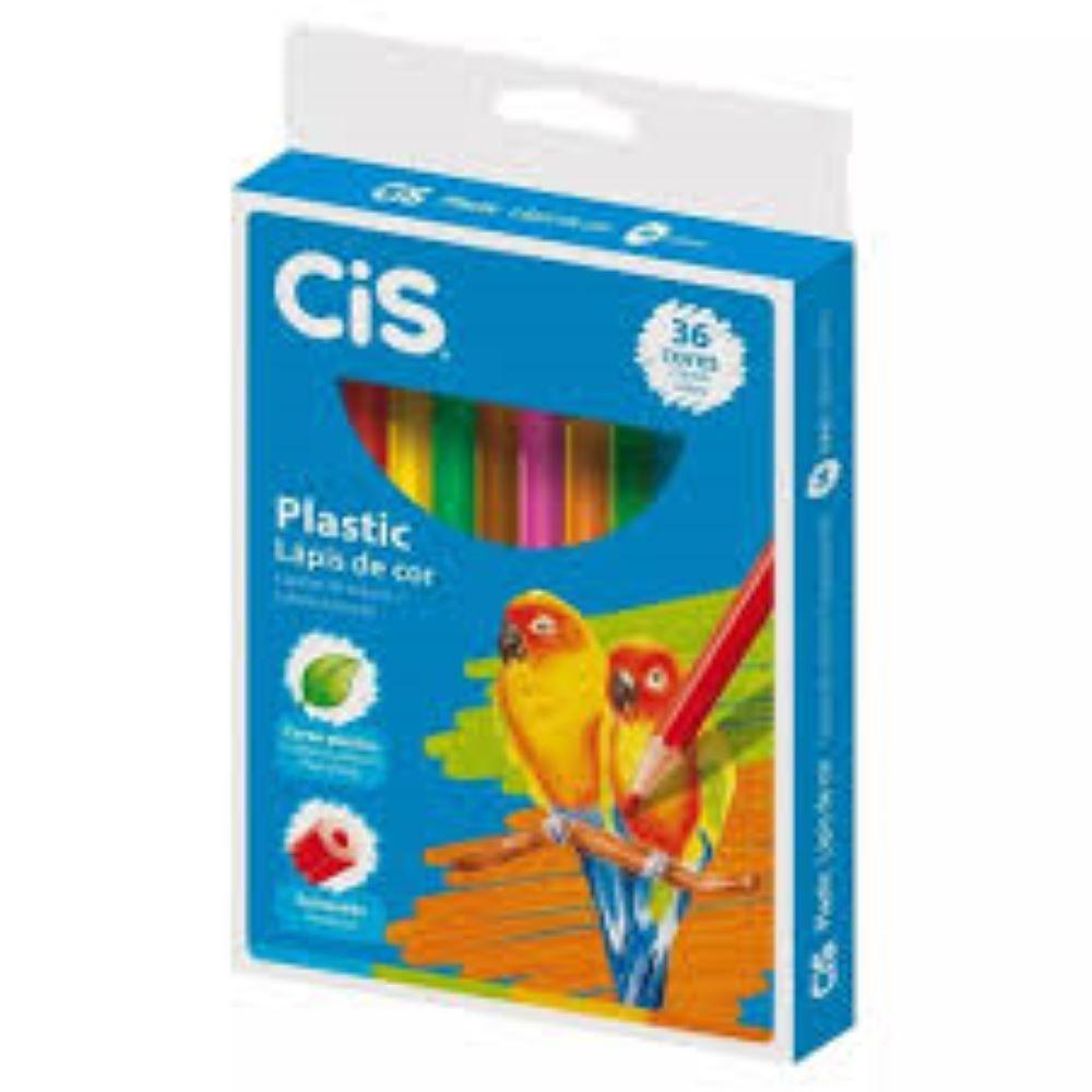 Lápis de Cor c/36 cores cis plastic