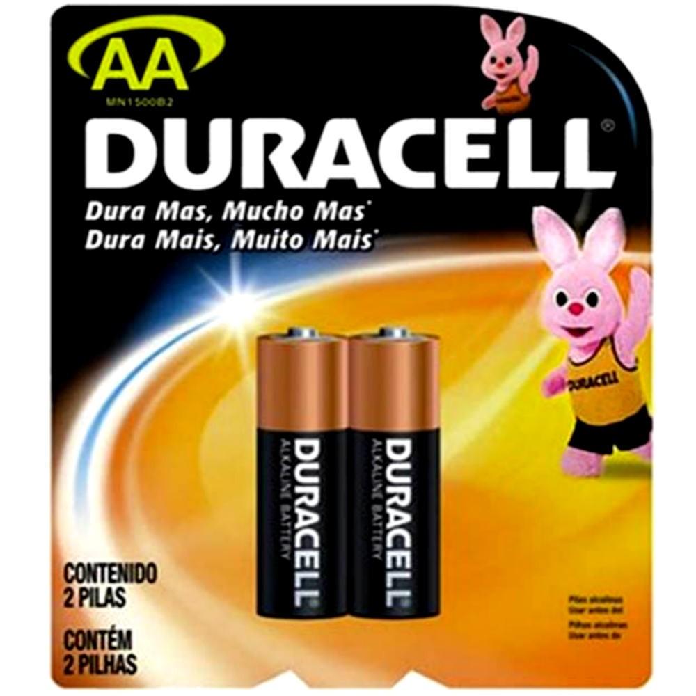 Pilha Duracell Alcalina AA C/2 unidades