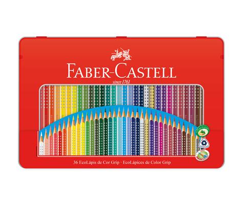 Lapis de Cor 36 Cores Estojo de Lata Ecolapis Faber Castell