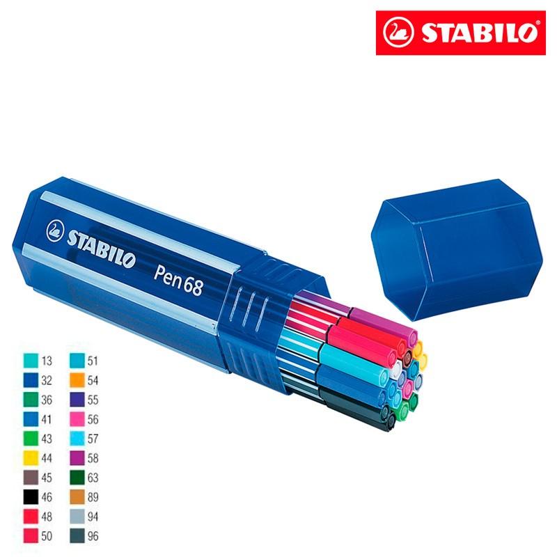 Caneta Hidrográfica 20 Cores Big Pen Box 6820 Stabilo