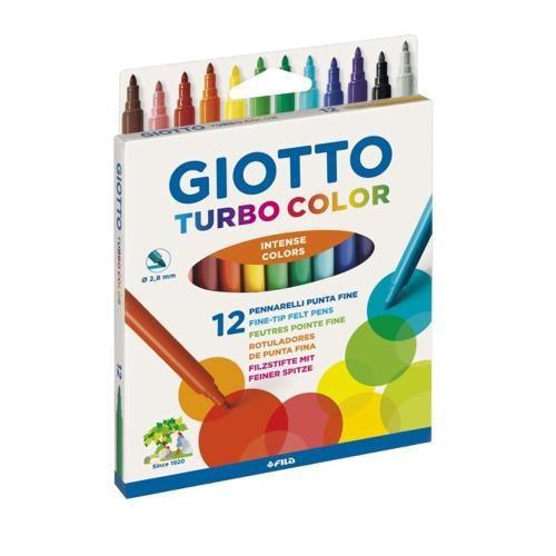 Canetinha Hidrográfica 12 Cores GIOTTO - Turbo Color