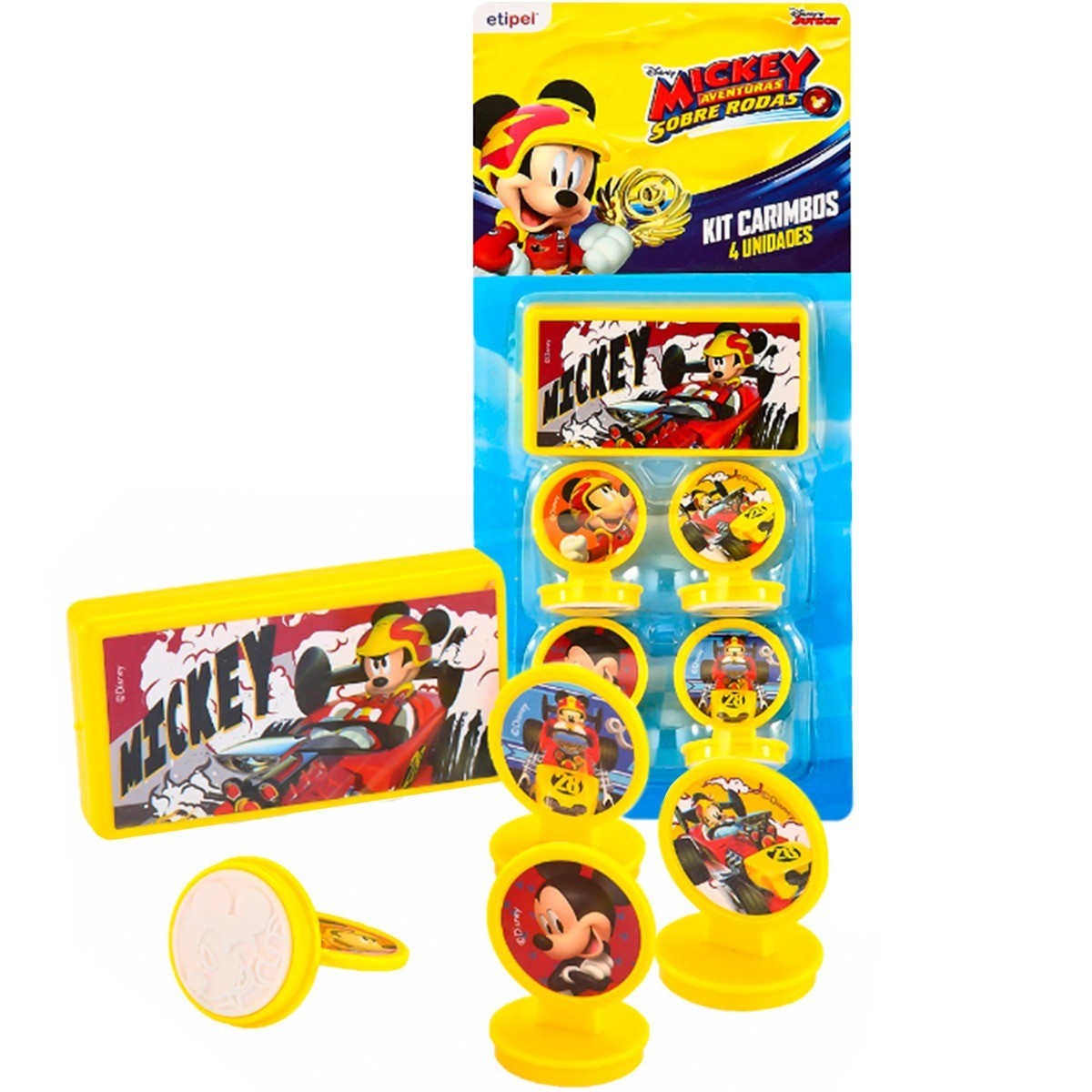 Kit c/ 04 Carimbos Mickey + Carimbeira