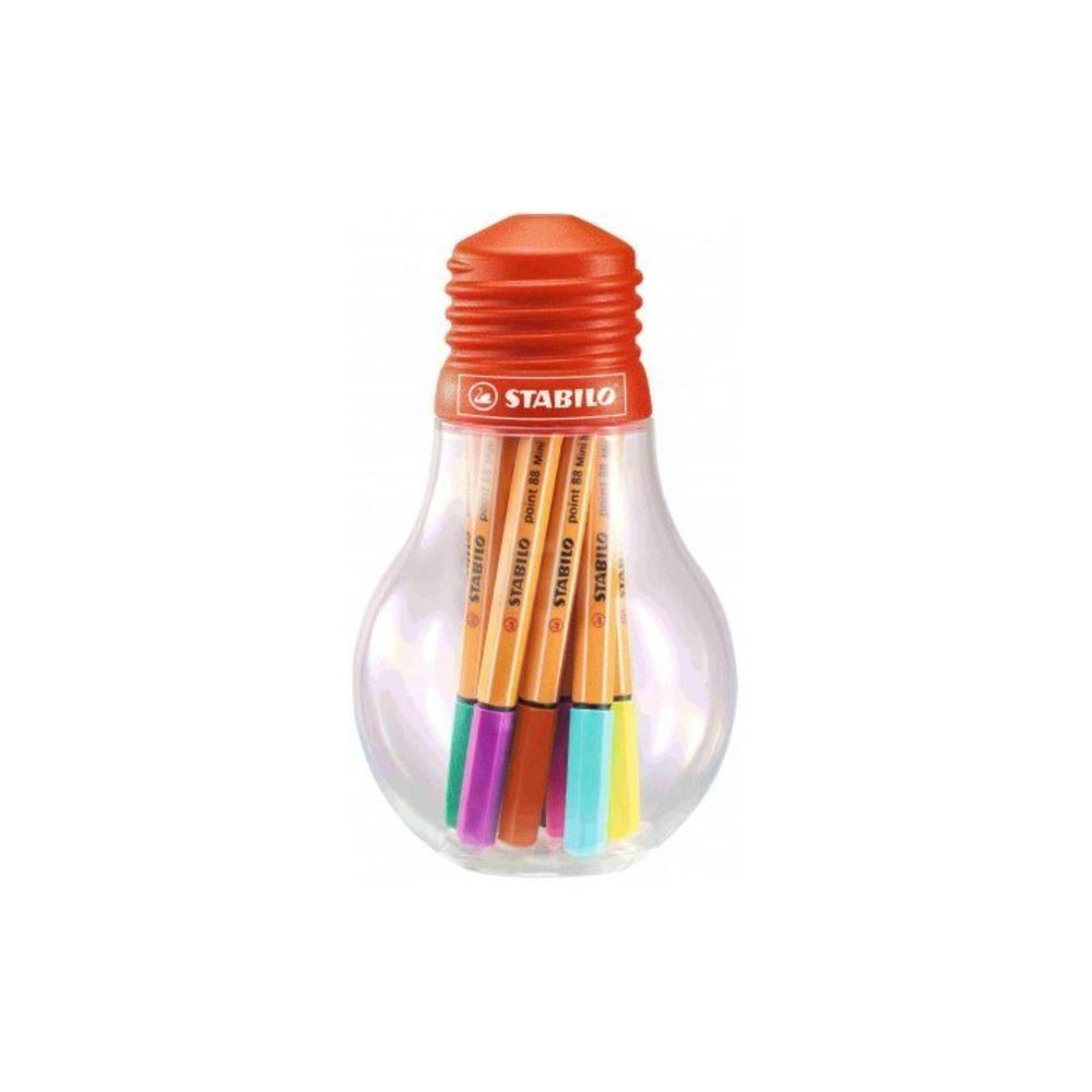 Estojo Lampada  Stabilo Point 88 Mini Colorfull Ideas c/12