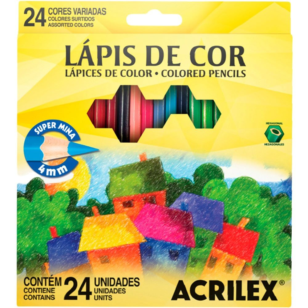 Lapis de Cor c/24 cores Acrilex