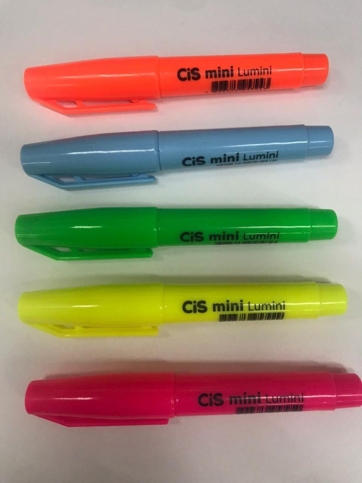 Caneta Marca Texto Cis Lumini Mini Neon c/05