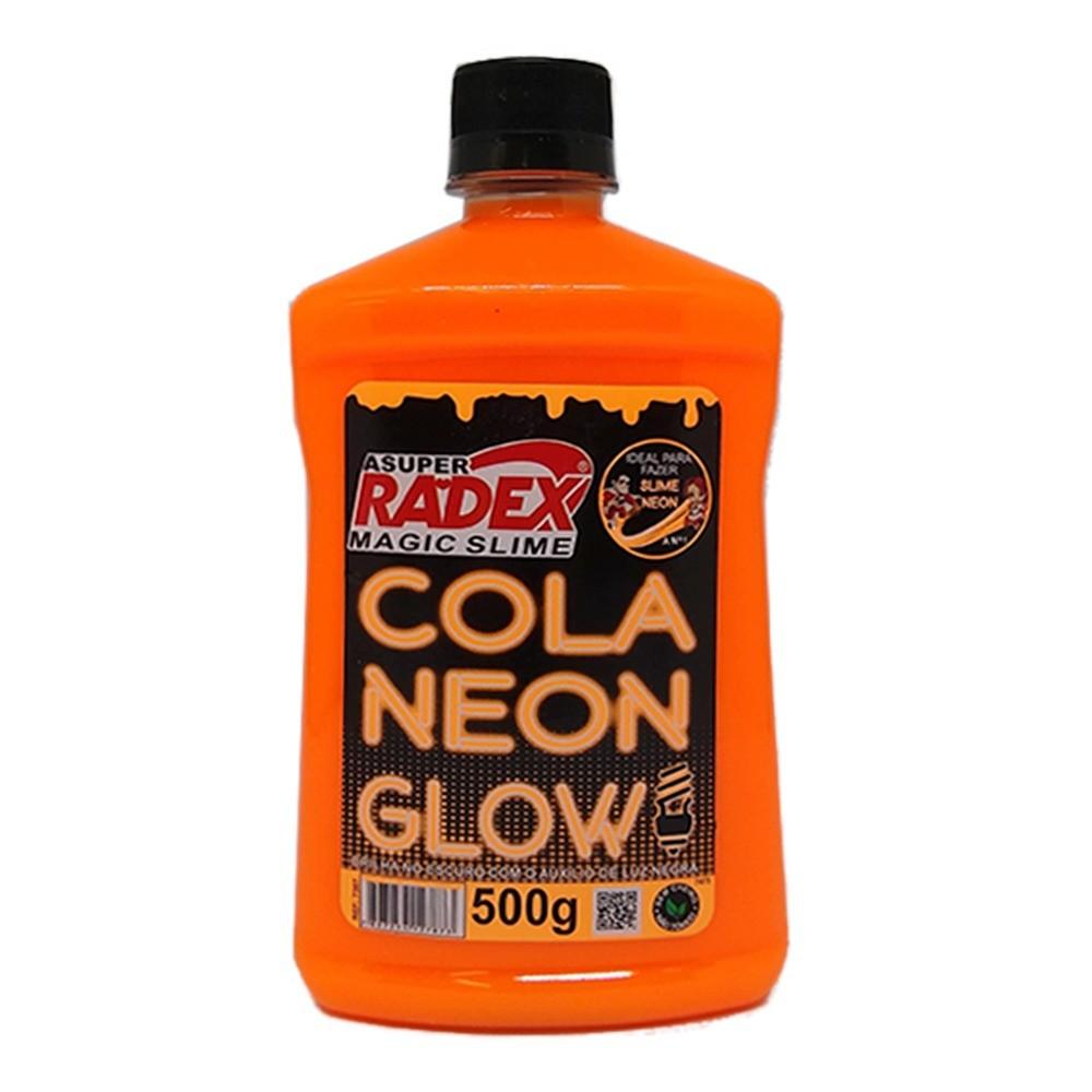 Cola Radex para Slime 500g Neon Glow Laranja