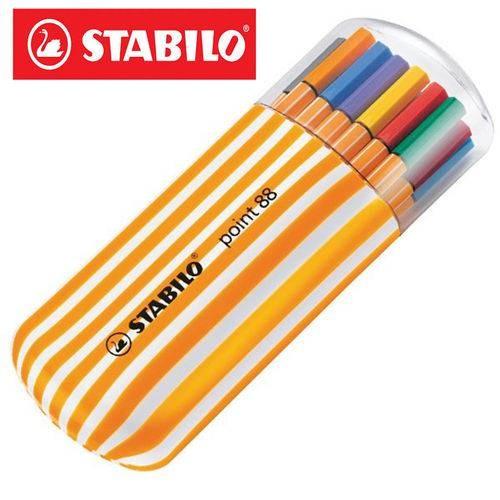 Caneta Stabilo Point88 c/20 unidades Zebrui
