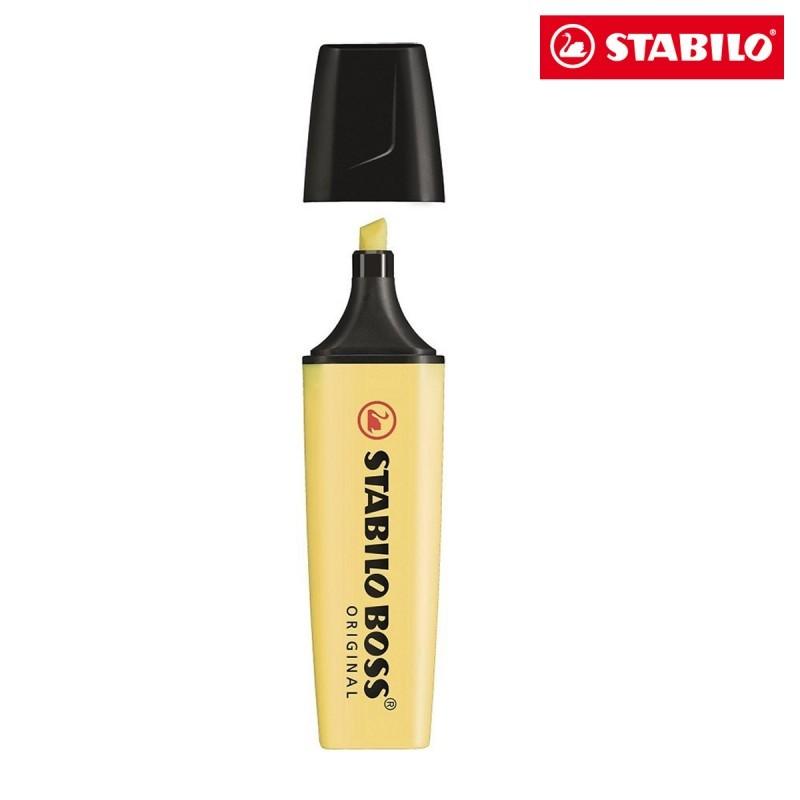 Caneta Marca Texto Stabilo Boss Pastel Amarela 70/144