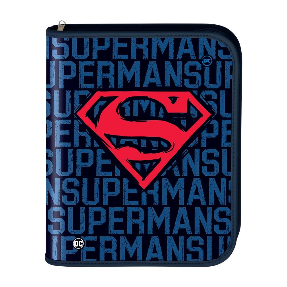Fichário Universitário c/ Zíper Super-Man