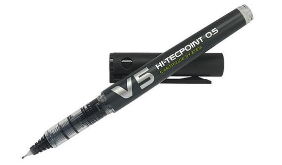 Caneta Hidrogáfica Hi-Tecpoint Bx-V5 Pilot - Preta