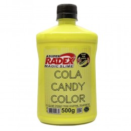 Cola Radex para Slime 500g Candy Color Amarela