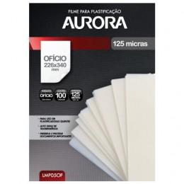 Filme para Plastificação Aurora – Tamanho Ofício - 100 Folhas