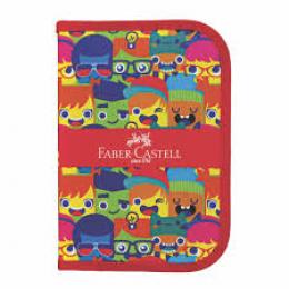 Estojo Faber Castell Nylon c/18 itens - 18.221 - Carinhas6