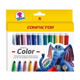 Caneta Hidrográfica 12 cores - Compactor Color
