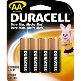Pilha Duracell Alcalina AA C/4 unidades
