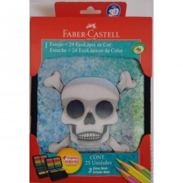 Estojo Faber Castell 3d c/24 lápis - ref: 18.22123DM