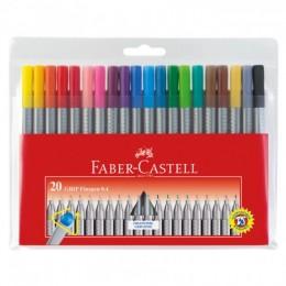 Caneta Hidrográfica Fine Pen 0.4mm 20 Unidades - Faber-Castell