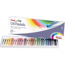 Giz Pastel Oleoso Estojo com 25 cores Pentel