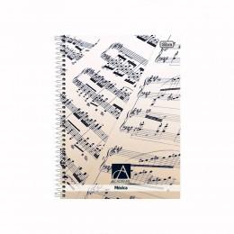 Caderno De Música Académie Capa Dura 96 Folhas Tilibra