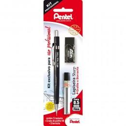 Kit Profissional Pentel SM/P205-AMBP – Lapiseira0,5mm+Grafite+Borracha