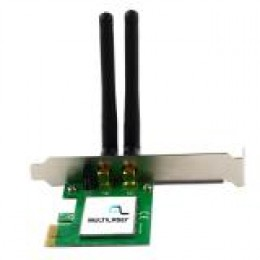 Placa Wireless 300mbps Com Wps 2 Antenas - Re049 Multilaser