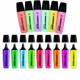 Marca Texto Stabilo Boss kit 15 cores 9 Neon e 6 Pastel