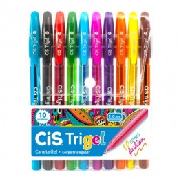 Caneta Gel Cis Trigel c/10 cores fashion