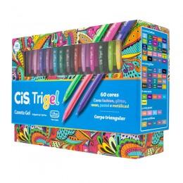 Caneta Gel Cis Trigel Display c/60 cores