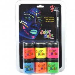 Pintura Facial Liquido 6 cores -Color Make