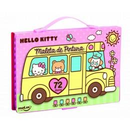 Maleta de Pintura Completa Hello Kitty C/ 72 ítens