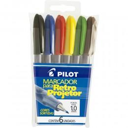 Marcador Retroprojetor 2.0 Pilot Pacote Com 6 Unidades