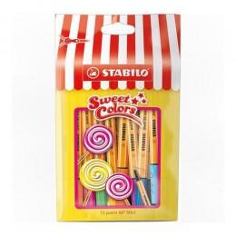 Caneta Hidrográfica Point 88 Mini Sweet Colors Com 15 Cores 688/15-051 Stabilo