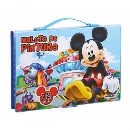 Maleta de Pintura Completa Mickey Mouse C/ 72 Ítens