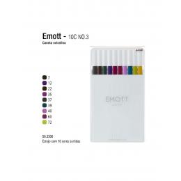 Caneta Uniball Emott 0.4mm  c/10 cores n.03