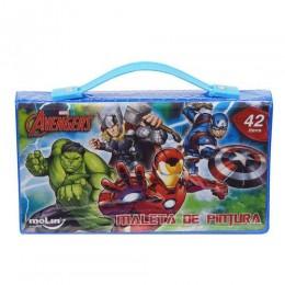 Maleta de Pintura Avengers 42 Itens - Molin