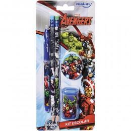 Kit Escolar Avengers c/5 Ítens