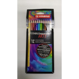 Lapis Aquarelavel Stabilo 12 cores Aquacolor Arty