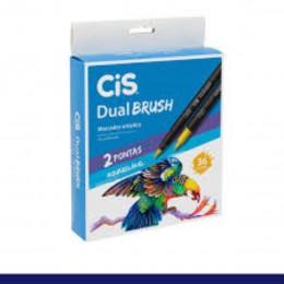 Caneta Dual Brush c/2 Pontas Aquarelavel 36 cores