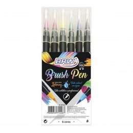 Caneta Brush Pen BRW c/06 cores