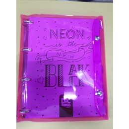 Caderno Argolado Dac Neon Rosa Bubble