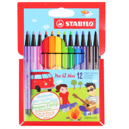 Caneta Stabilo Pen 68 Mini c/12